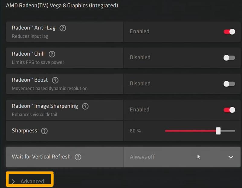 AMD Radeon Settings For Valorant