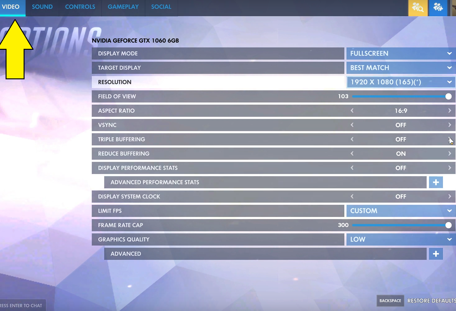 Best Overwatch Settings For High FPS