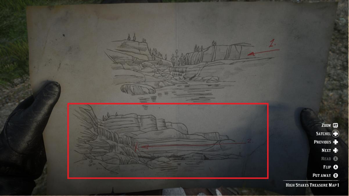High Stakes Treasure Map 2