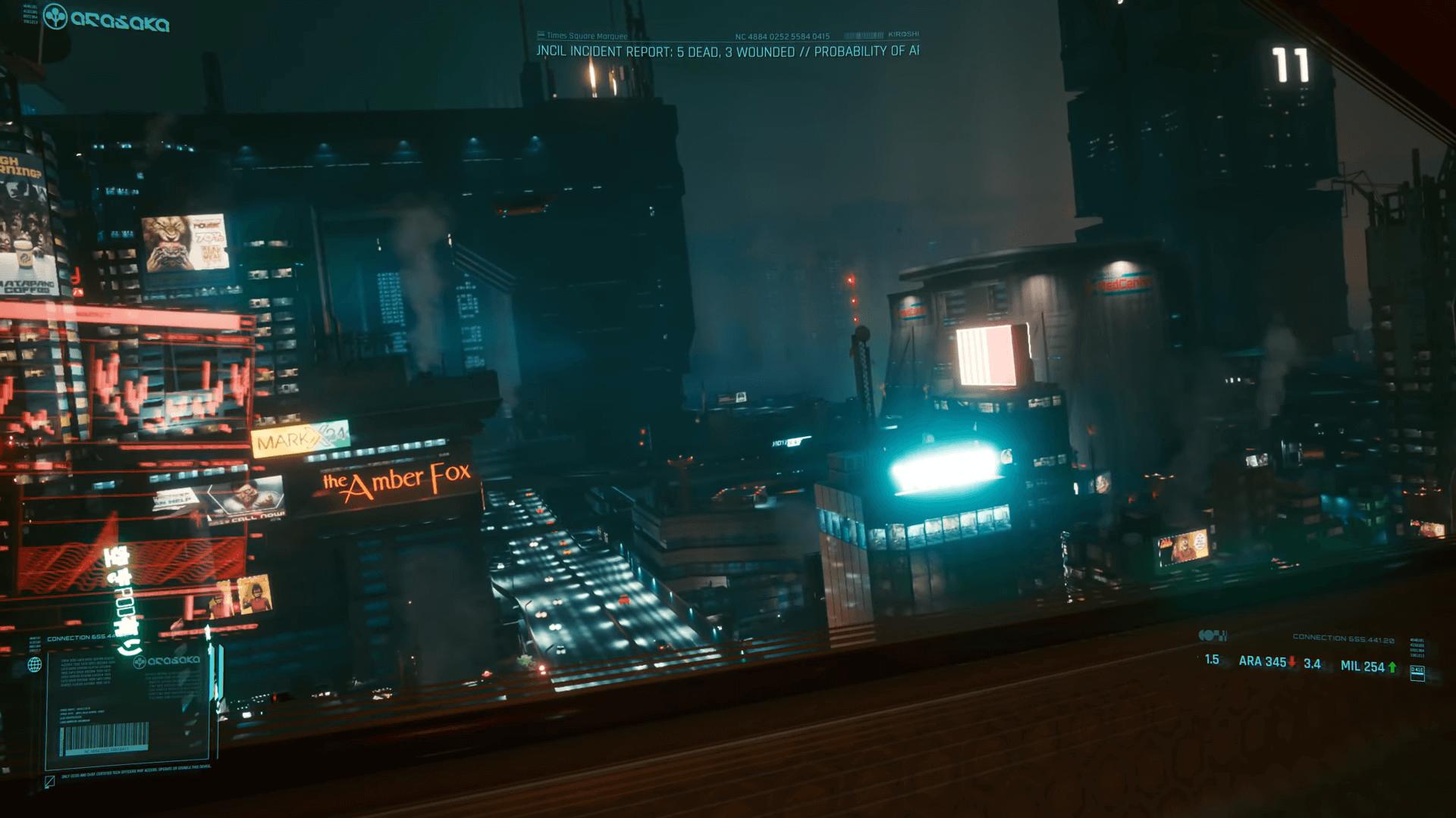flying cars cyberpunk 2077