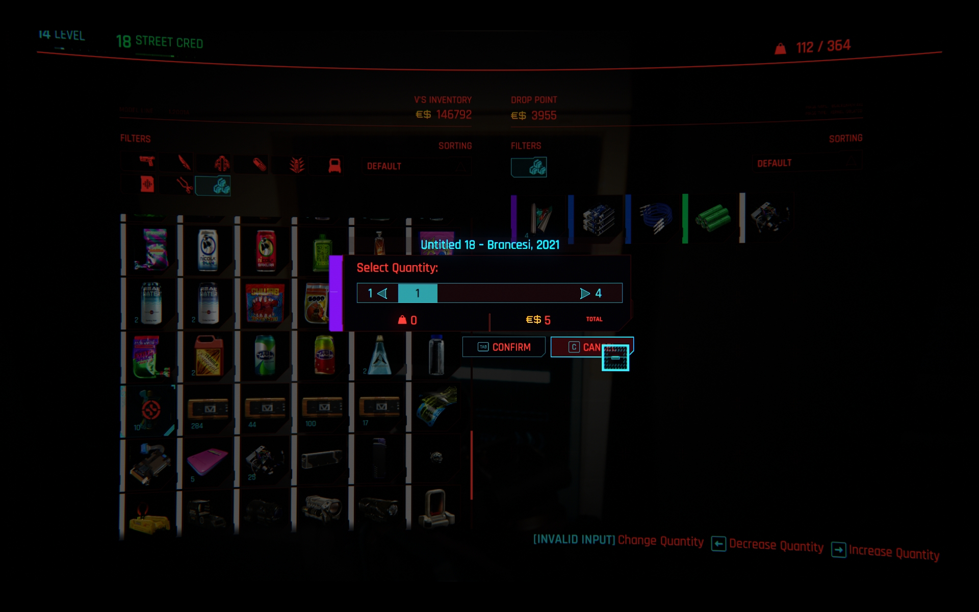 Legendary Items Glitch Cyberpunk 2077