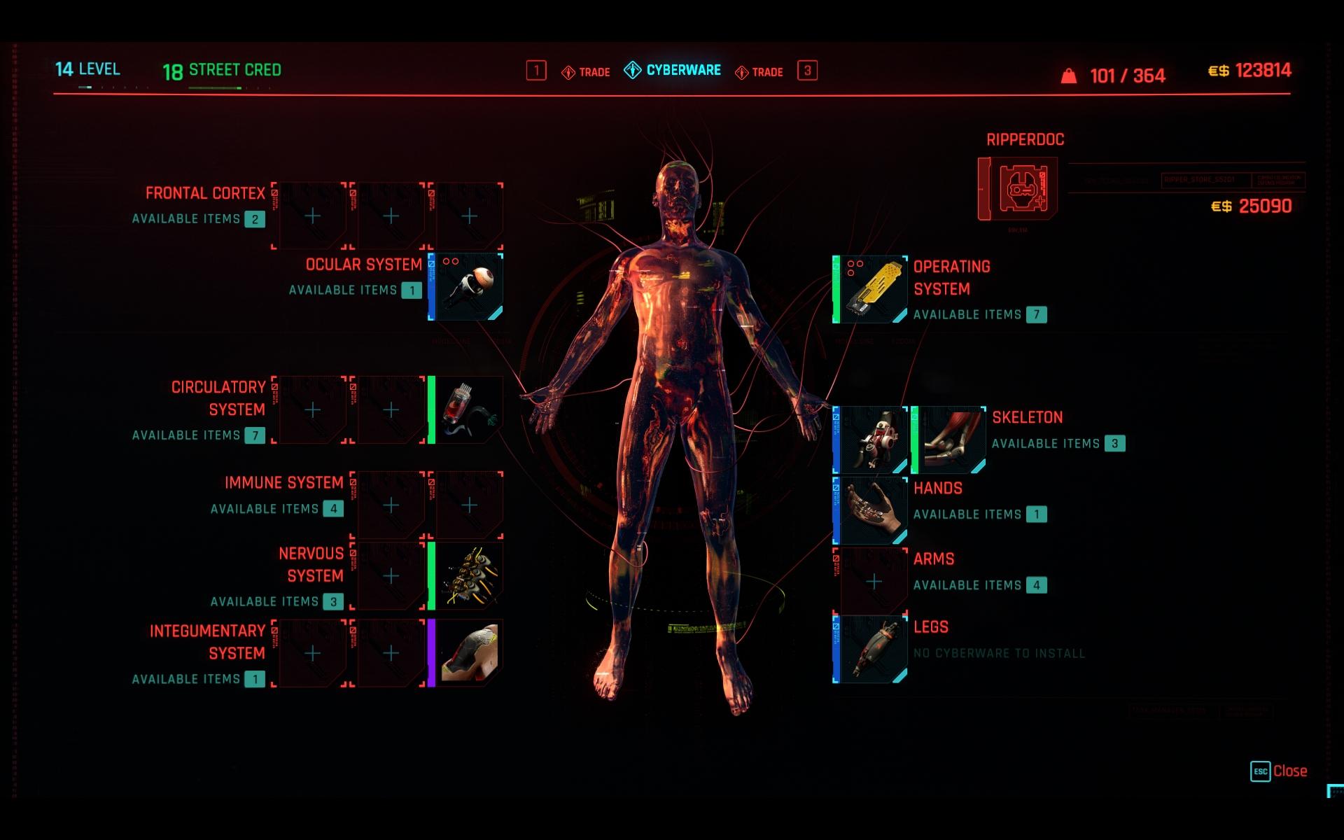 Cyberpunk 2077 Legendary Cyberware
