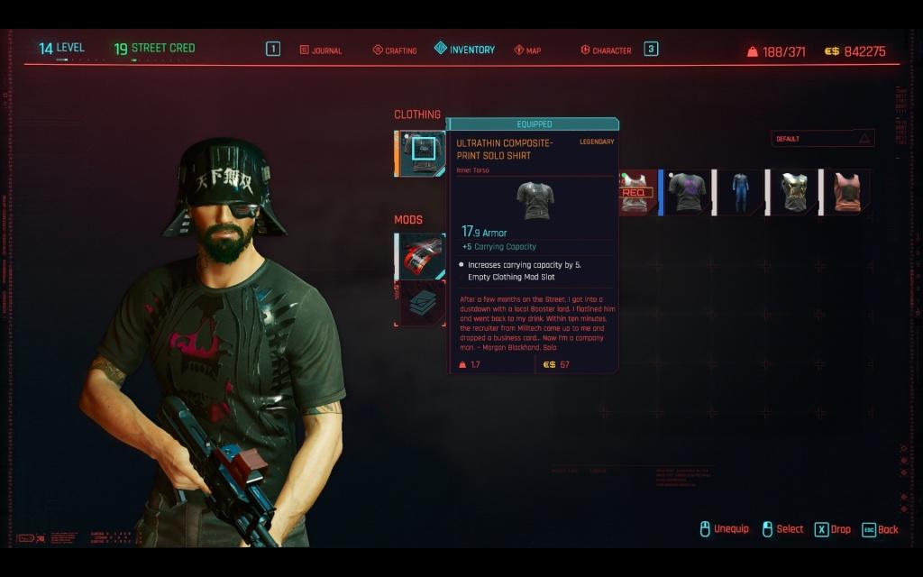 all legendary clothes cyberpunk 2077
