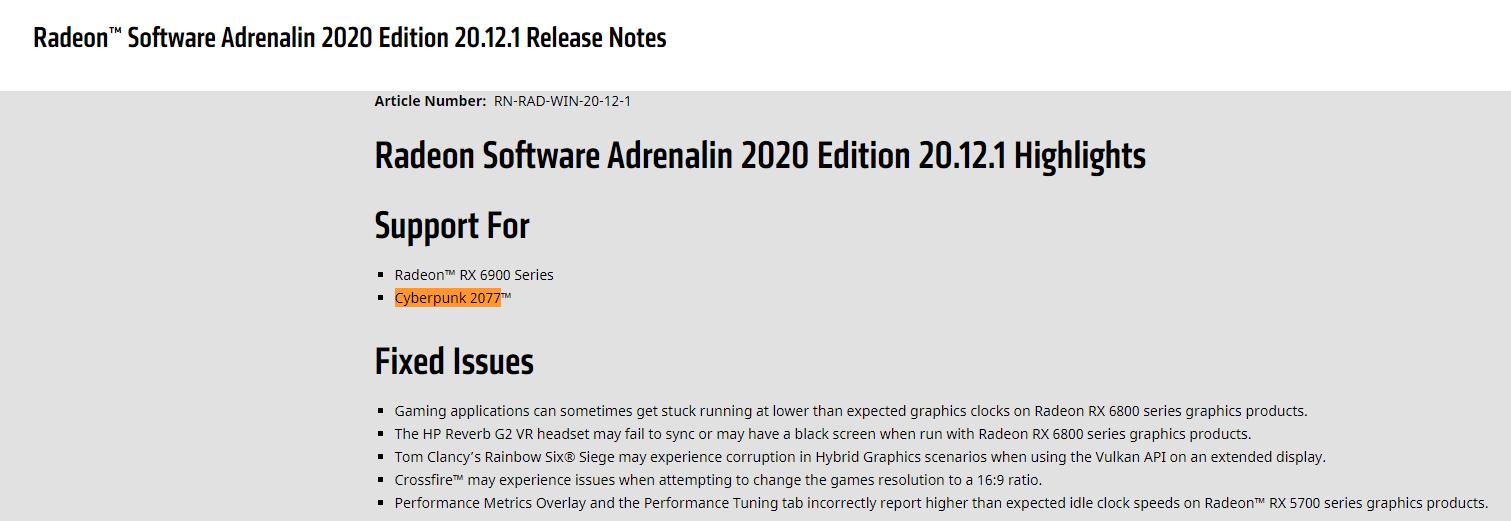 Best AMD Settings For Cyberpunk 2077.