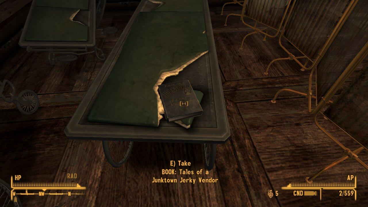 Fallout New Vegas skill book