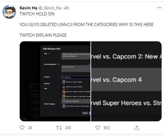 Kevin Ha on Twitter With the Twitch Leak