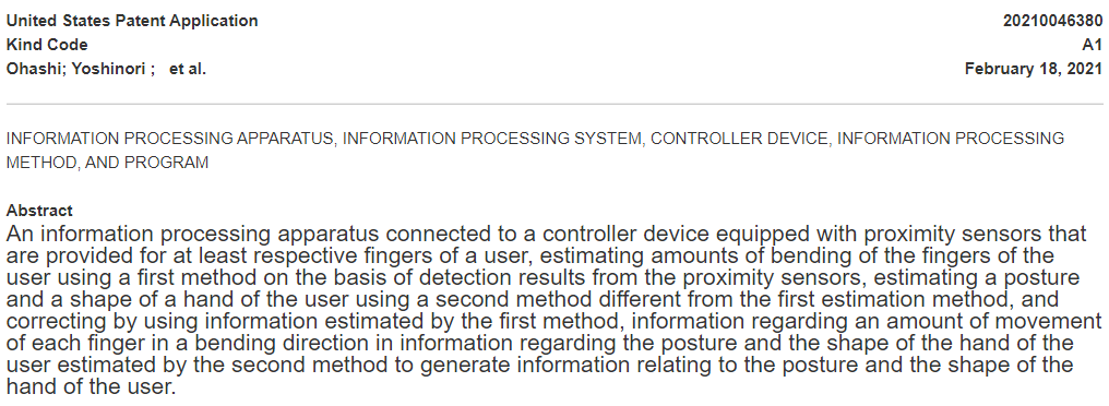 Sony's Patent for Controller Device With Proximity