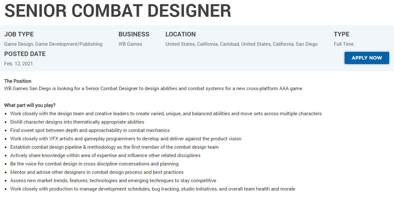WB Games Job Offer