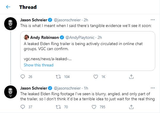 Jason Schreier on Twitter