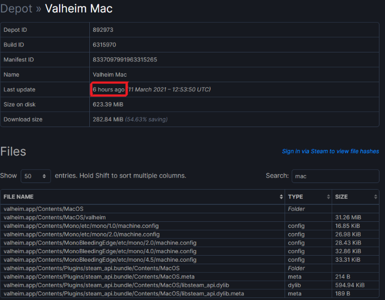 Proof of Valheim's Upcoming Availability on Mac