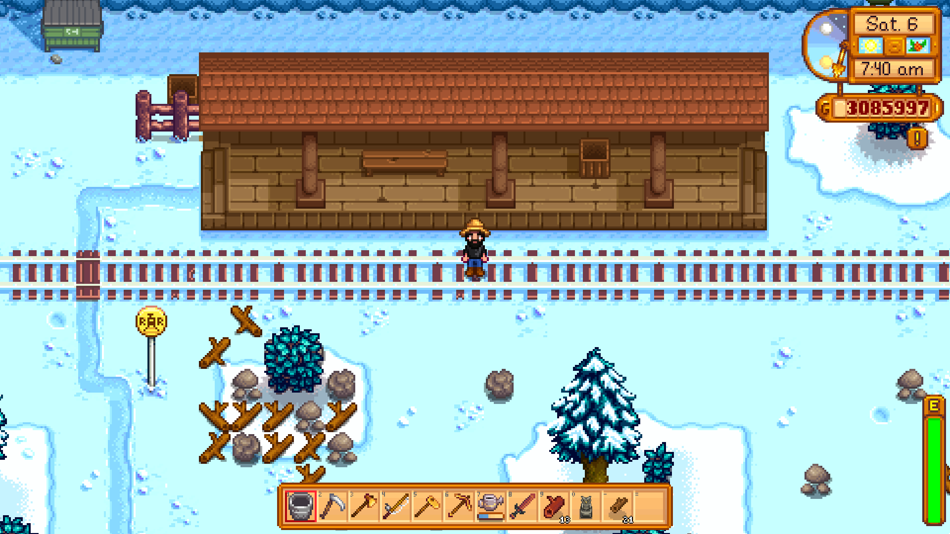 A Train Is Passing Through Stardew Valley