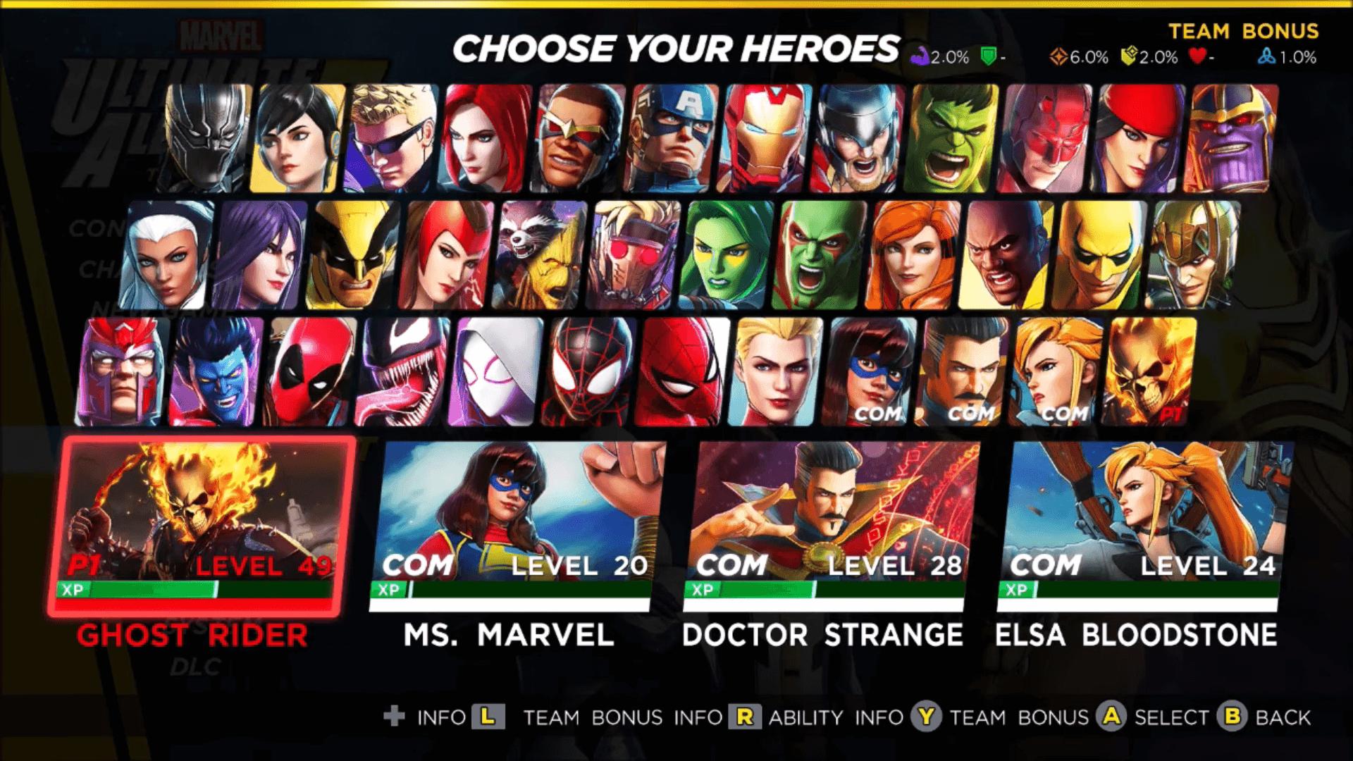 Marvel Ultimate Alliance 3 Best Team