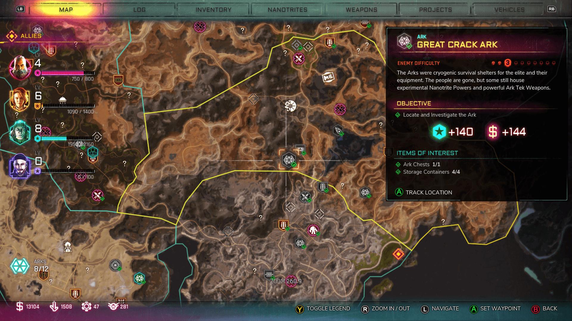 Rage 2 Ark Locations