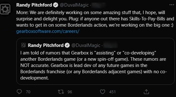 Randy Pitchford on Twitter