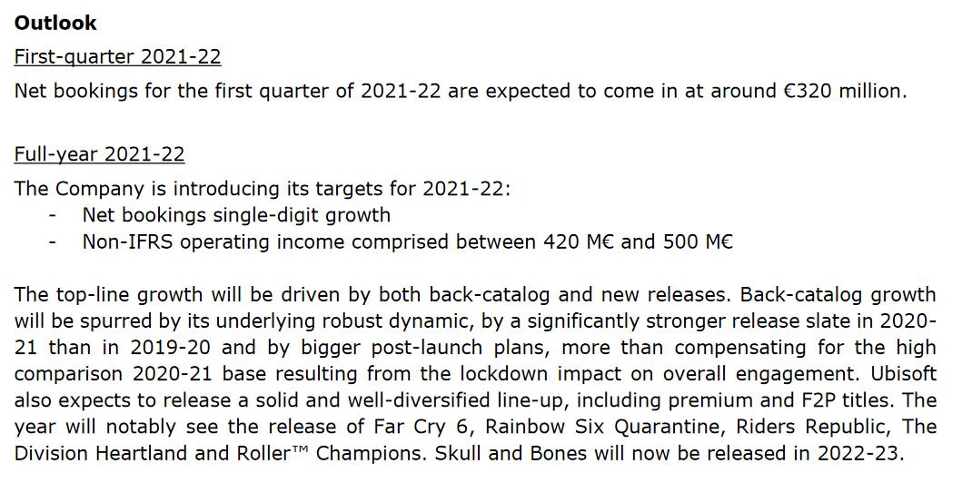 Ubisoft Earnings Report