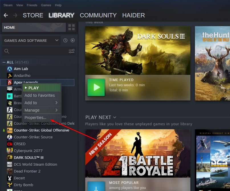 Apex Legends Party Leader Quit Fix - Steam File Integrity