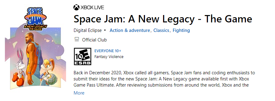 Space Jam: A New Legacy - The Game on the Microsoft Store