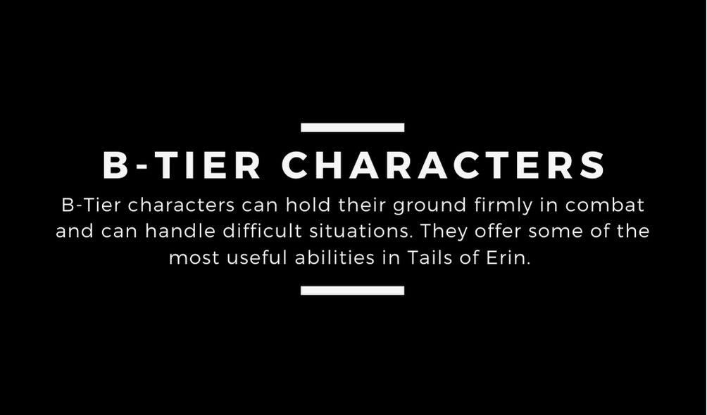 Tales of Erin Tier List
