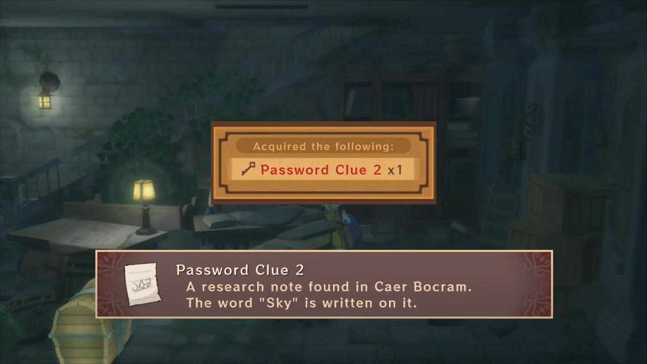 Tales of Vesperia Password