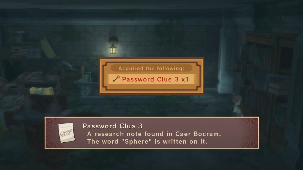 Shows third clue for vault password in Caer Bocram in Tales of Vesperia
