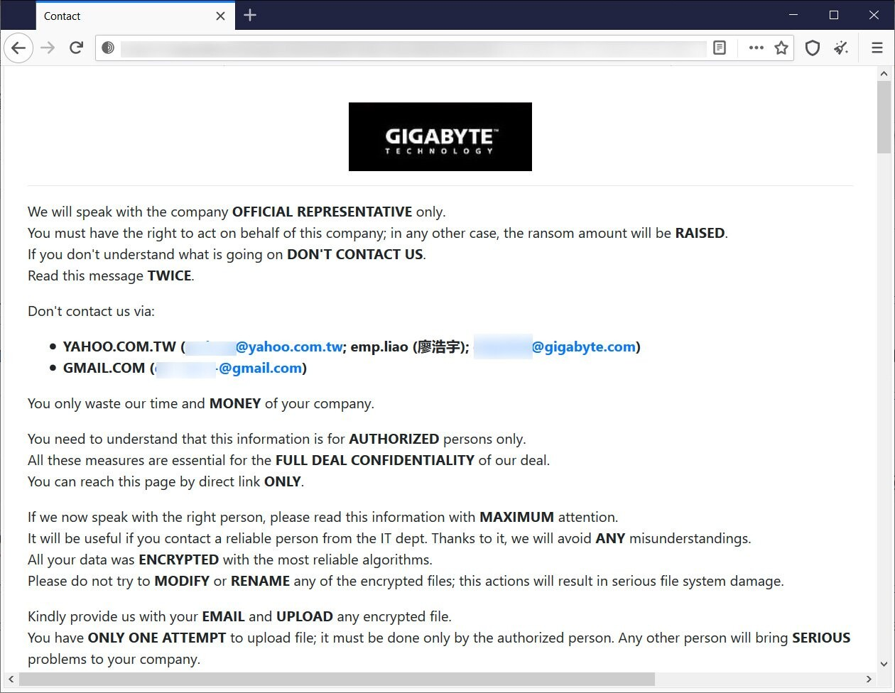 The Threat to GIGABYTE