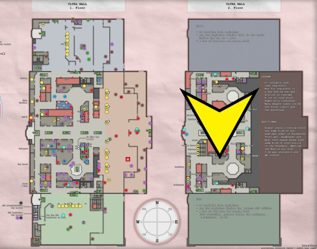 Map location of second handbook part