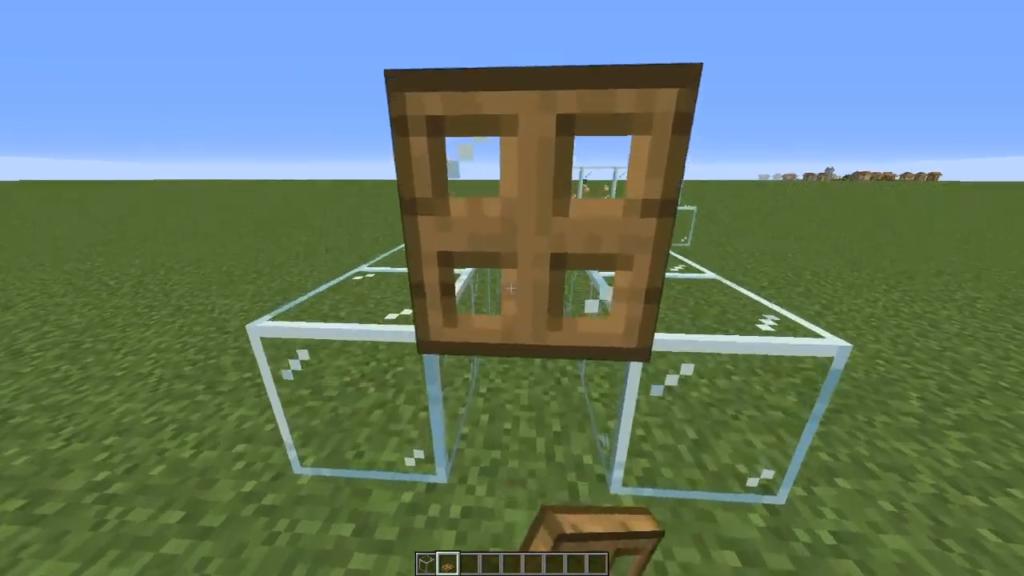 Trapdoor position to go prone in Minecraft