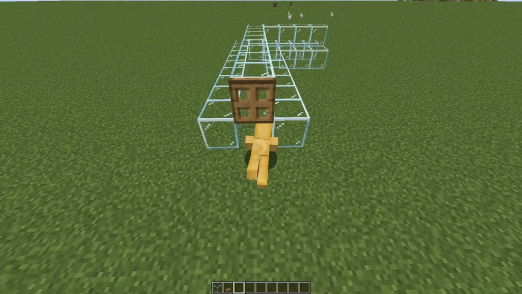 Player crawling in Minecraft