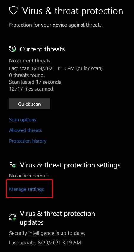 Overwatch Rendering Device Lost - Exclusions in Anti-Virus.