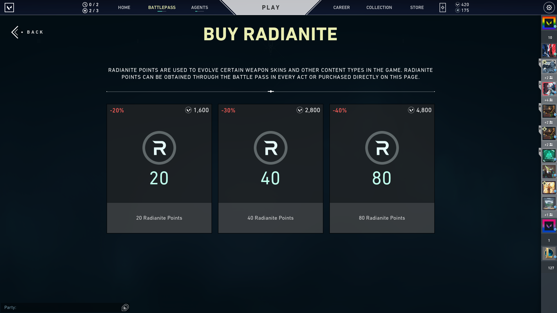 VALORANT In-Game Currency System