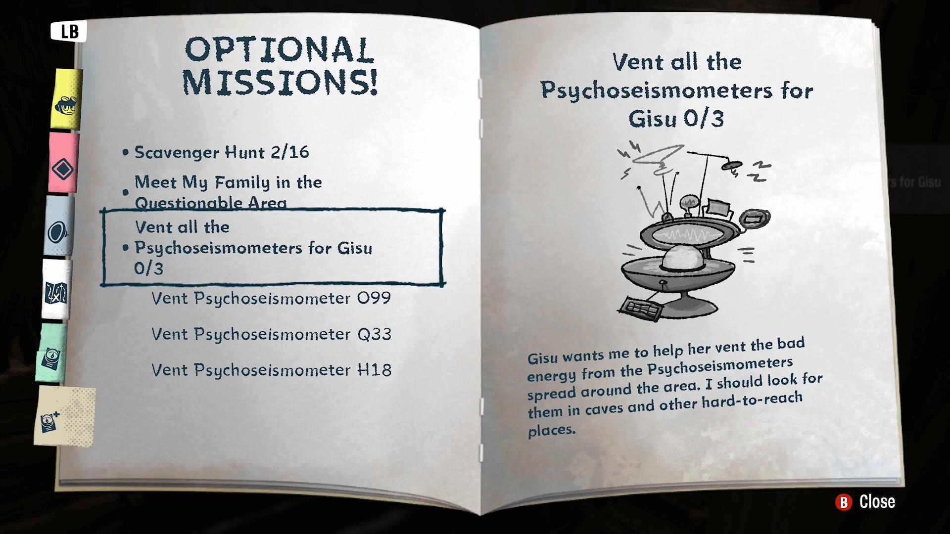 Psychonauts 2 Psychoseismometers